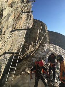 Bild 3 Absicherung der Kletterpassagen zur Fuorcla Boval