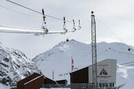 MortAlive Schneiseil-Testanlage Talstation Diavolezza. Bild: Mayk Wend