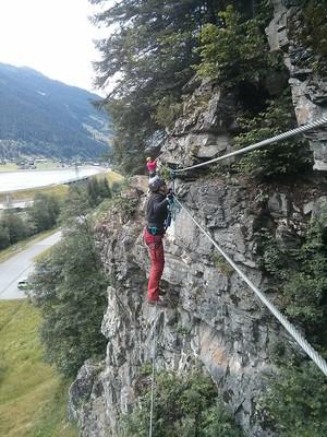 Im Rifa-Klettersteig Partenen