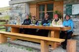 Umweltgruppe auf der Alpe Garnera