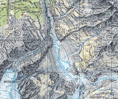 Karte Gletscher
