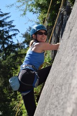 Petra im ÖAV-Klettergarten